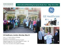 GE Healthcare, London, May 24